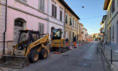 Piano delle manutenzioni, partito il rifacimento del marciapiede in via Fiorentina a Riglione